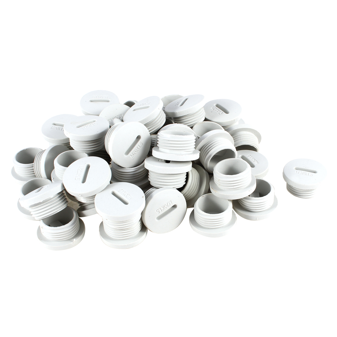 50 Pcs M20 20mm Diameter Round Gray Plastic Furniture Chair Table Legs Blanking End Cap Tubing Tube Insert
