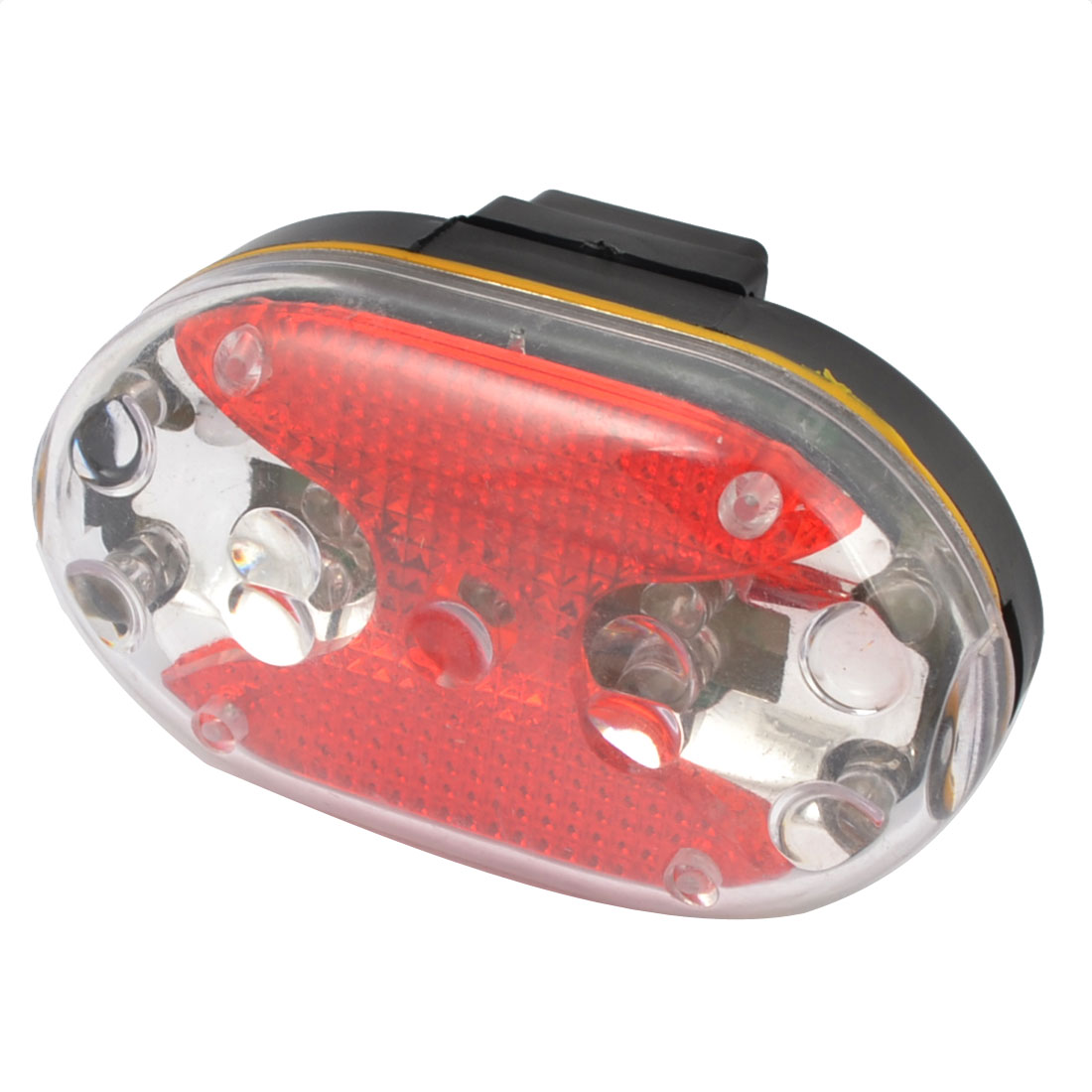 Battery Powered 7 Modes Red 9 LEDs Bike Bicycle Rear Light Tail Lamp