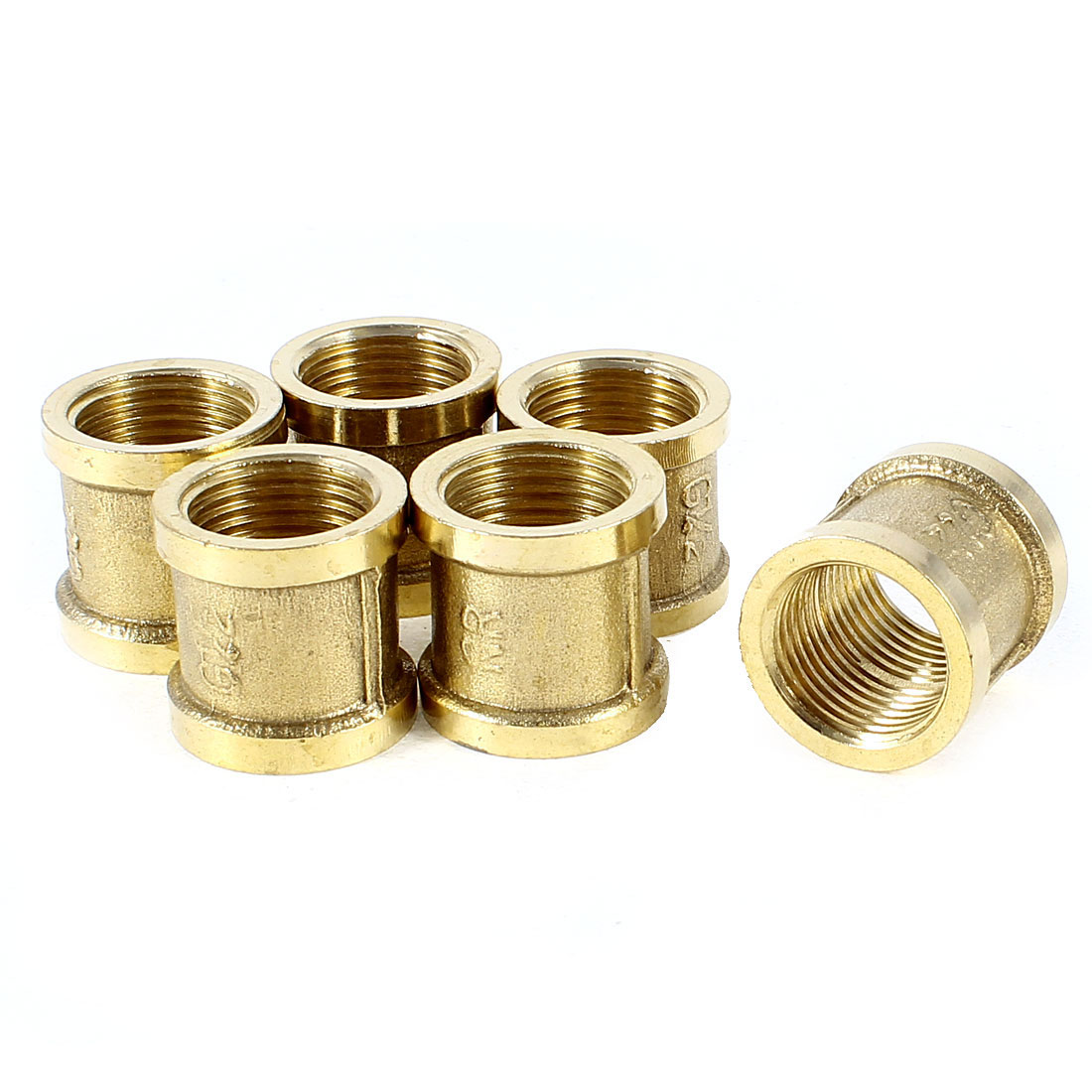 """6 Pcs G 1/2"""" Female Thread Connector Water Pipe Straight Couplings Replacements"""