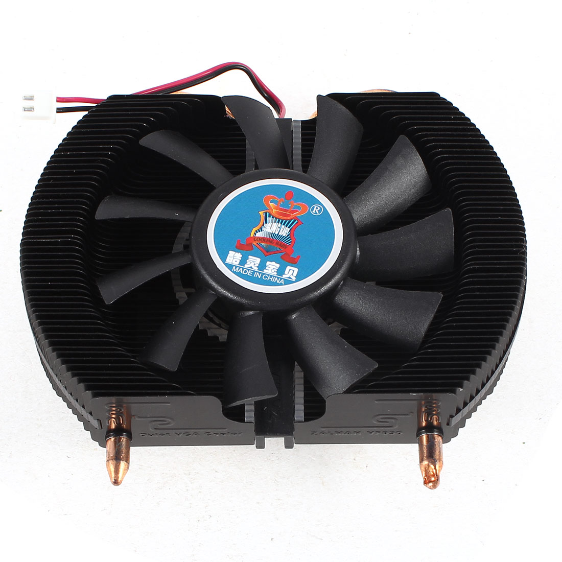 Ball Bearing 75mm 2 Terminals Connector PC VGA Video Card Cooling Cooler Fan