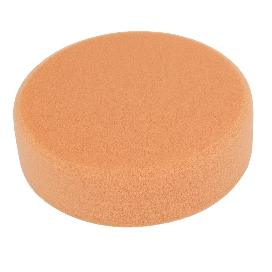 White Orange Sponge Round Sanding Polishing Pad 150mm x 40mm