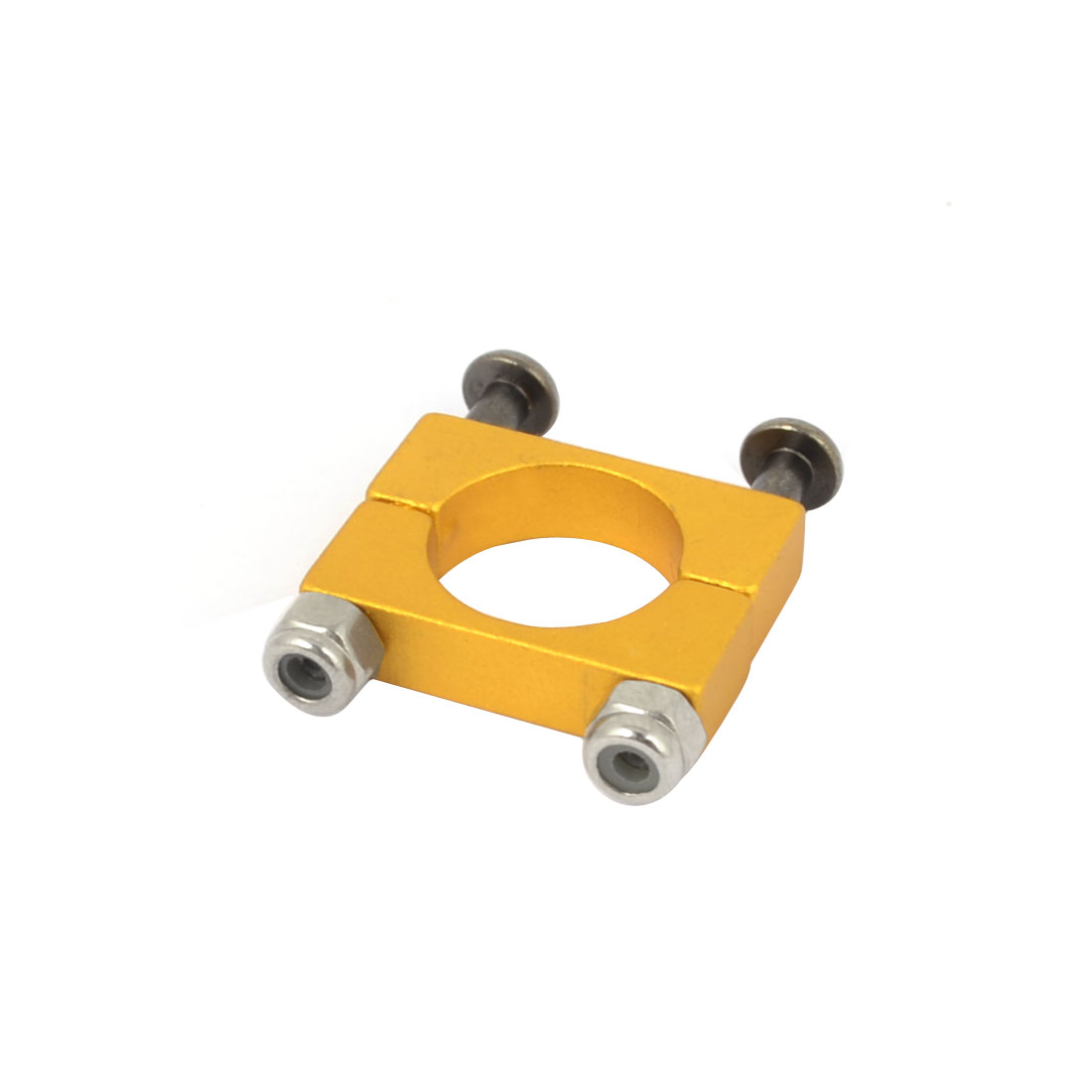 CNC Alloy 12mm Tube Boom Mount Motor Clamp for DIY Quadcopter Yellow