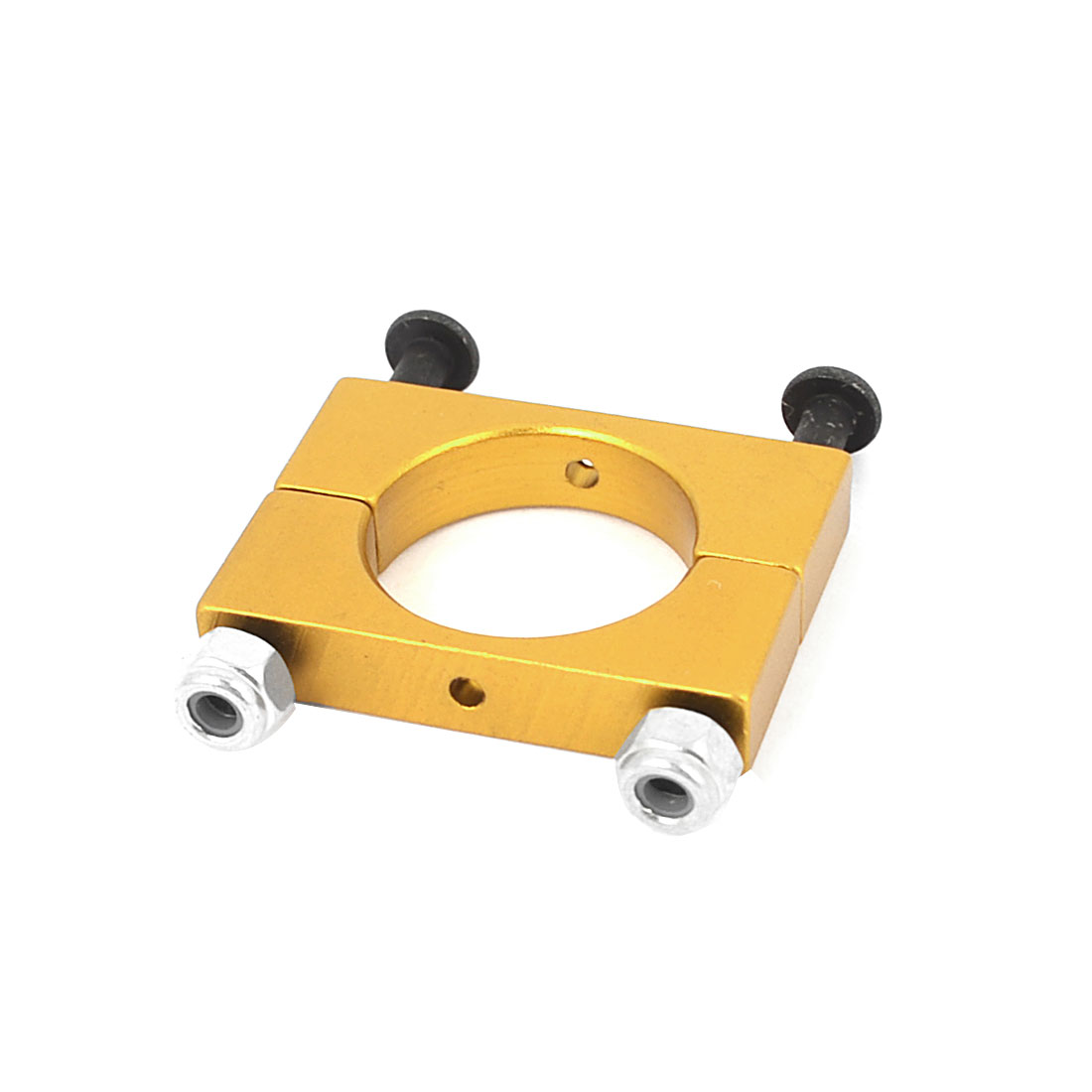CNC Alloy 15mm Yellow Tube Boom Mount Motor Clamp for DIY Quadcopter