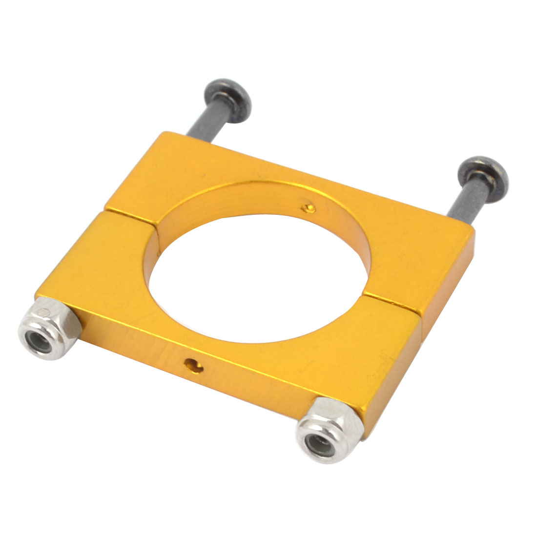 CNC Alloy 20mm Tube Boom Mount Motor Clamp for DIY Quadcopter Yellow