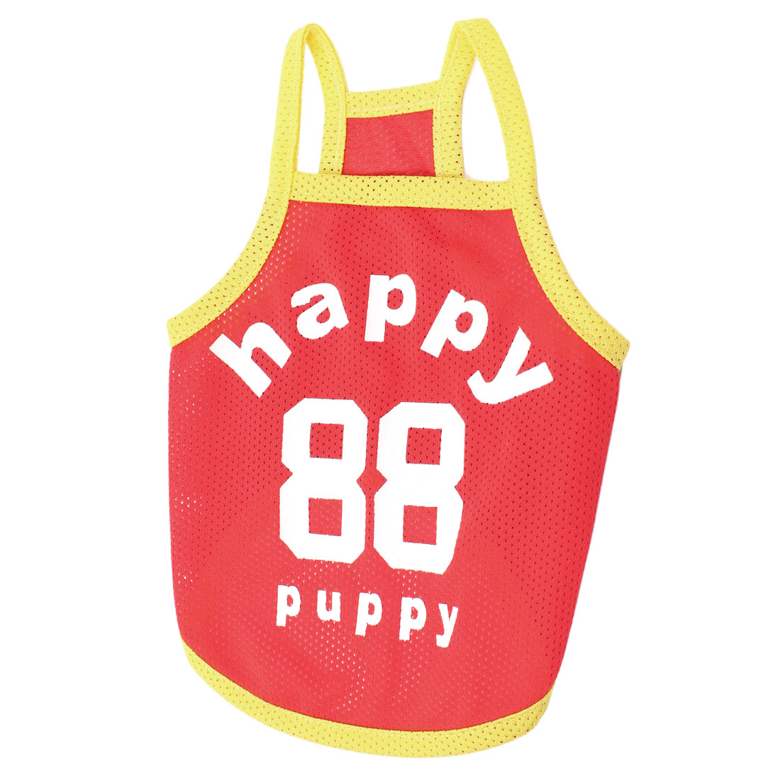 Letter Pattern Sleeveless Pet Dog Yorkie Tank Top Shirt Apparel Red S