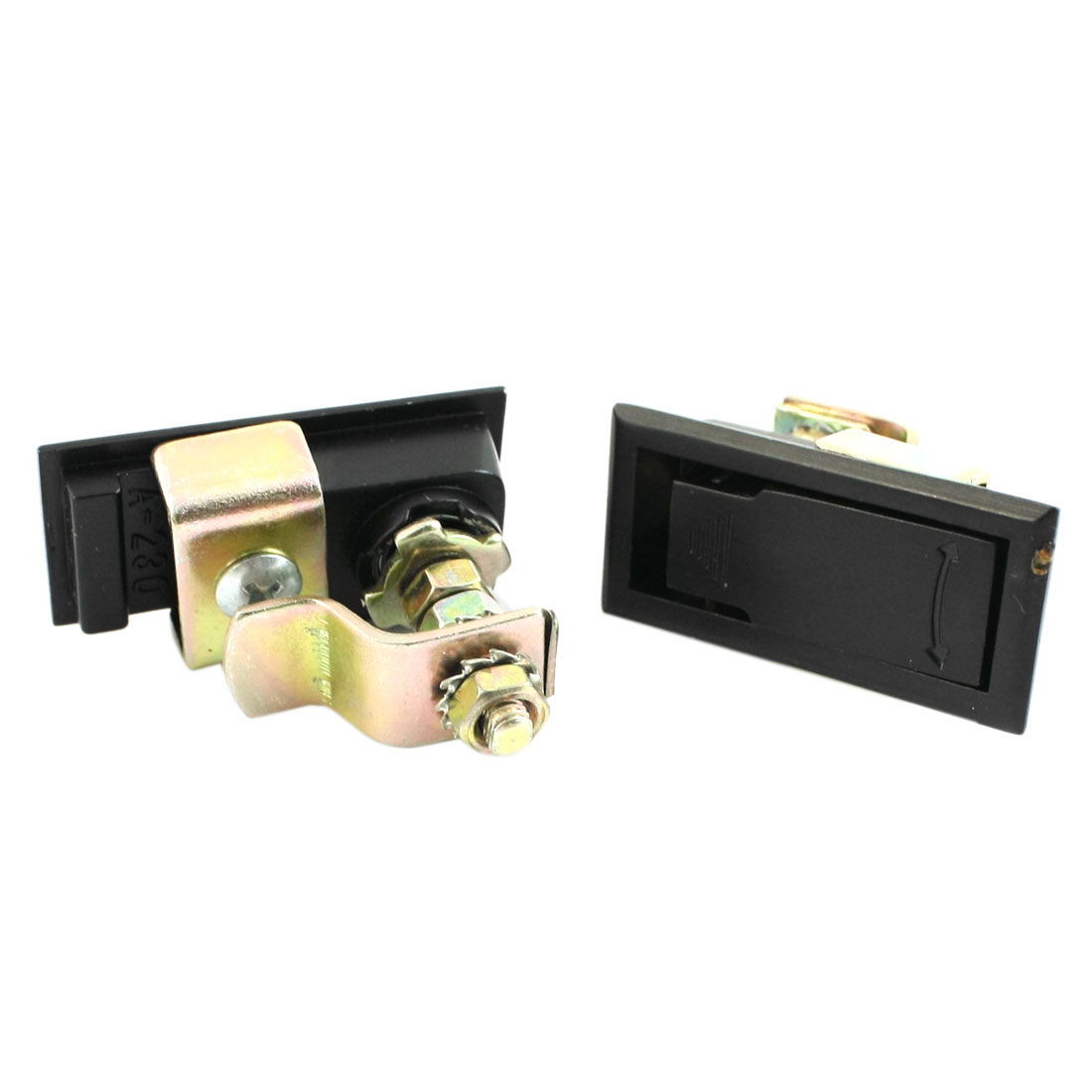 Black Panel Pop Up Plane Type Cabinet Door Lock 2 Pcs