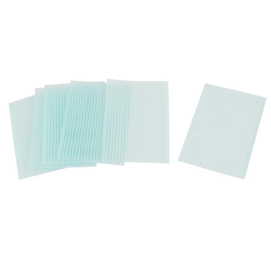 6 pcs Plastic Magic Paste Posts Fringe Hair Bangs Stickers Light Blue
