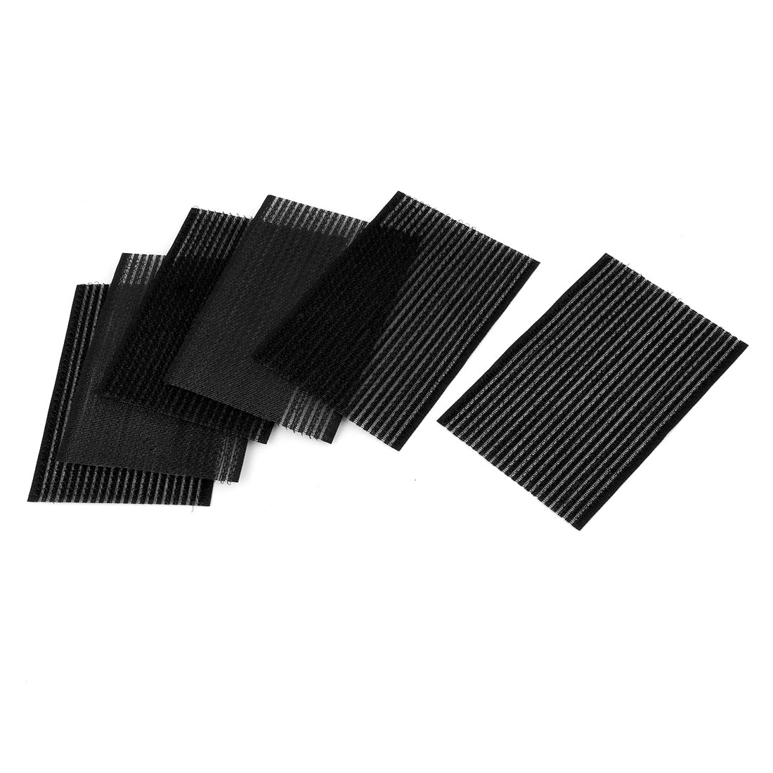 6 Pcs Plastic Rectangle Magic Paste Posts Fringe Hair Bangs Stickers Black
