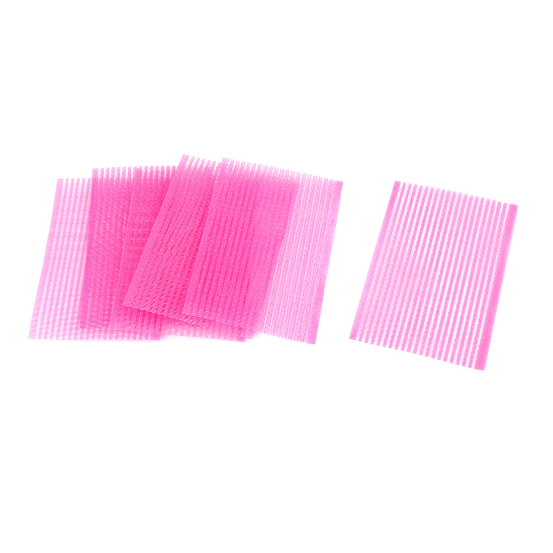 Lady Plastic Magic Paste Posts Fringe Hair Bangs Stickers Pink 3 Bags