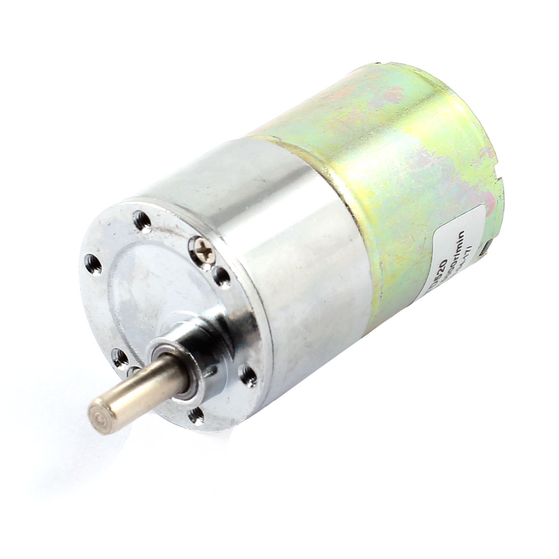 6mm Shaft 35m Body Diameter 2 Connector Cylinder Shape Gear Box Motor DC12V 5000R/MIN
