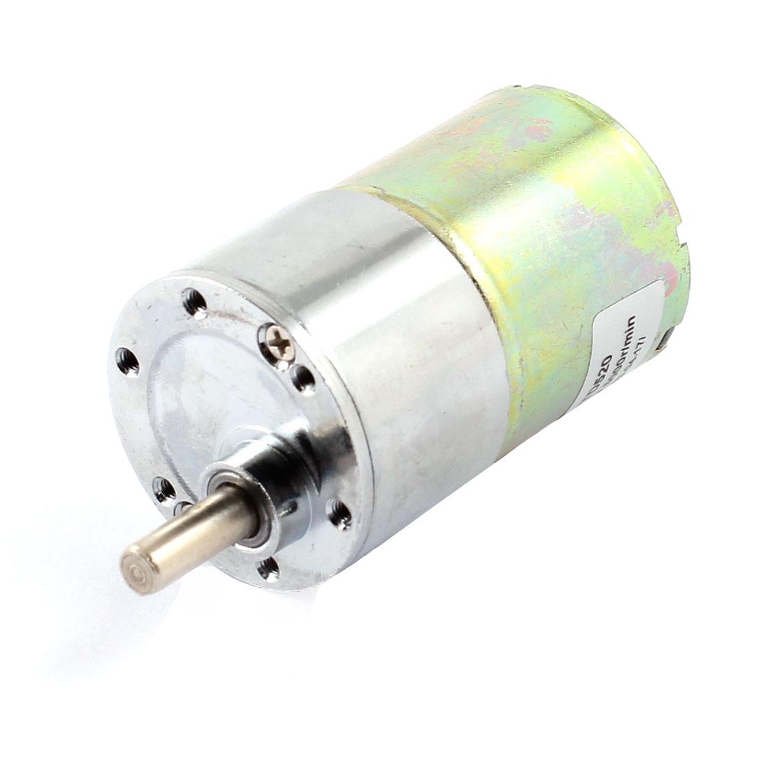 6mm Shaft 35m Body Diameter 2 Connector Cylinder Shape Gear Box Motor DC12V 5000R/MIN