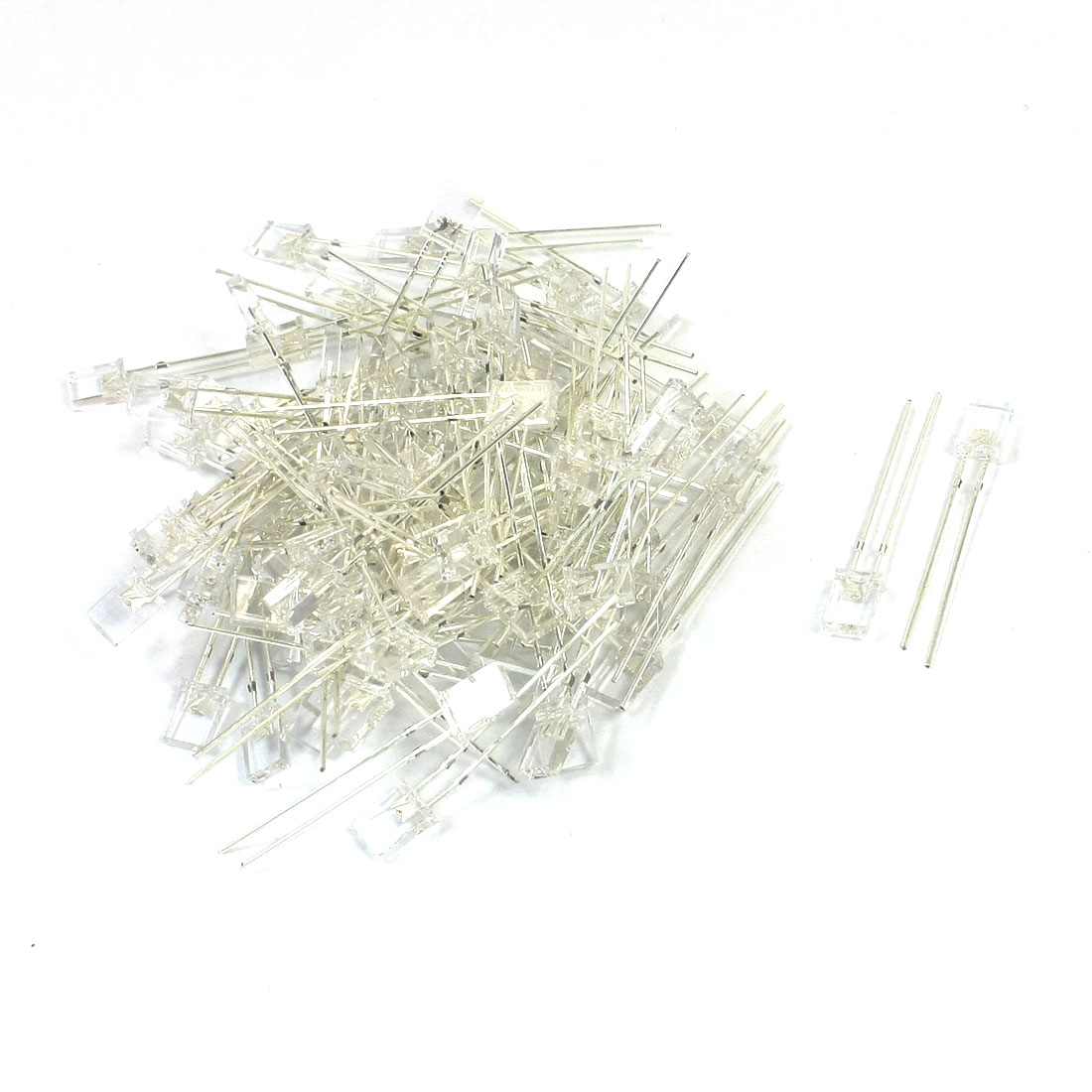 100 Pcs DC3.0-3.2V Rectangle Head 2 Terminals Green LED Light Emitting Diodes 2mm x 5mm x 7mm