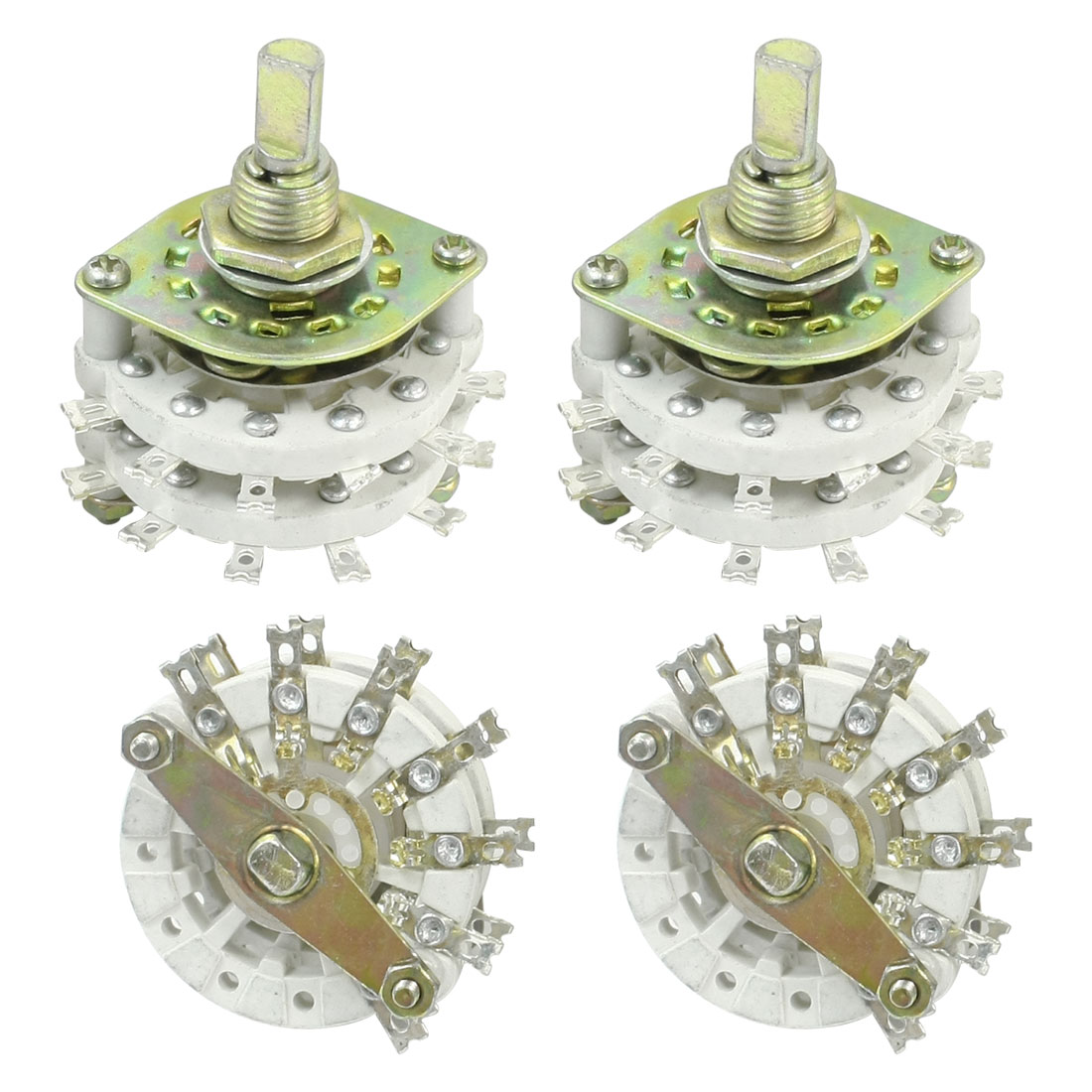 4PCS Band Channael Rotary Switch 2P6T 2 Pole 6 Position Dual Deck
