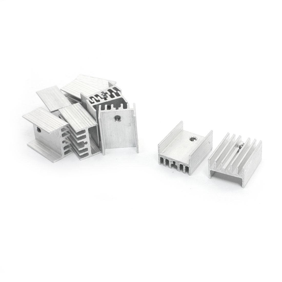 10Pcs 20mm x 15mm x 10mm Aluminium Heatsink Cooler Fin for Transistor