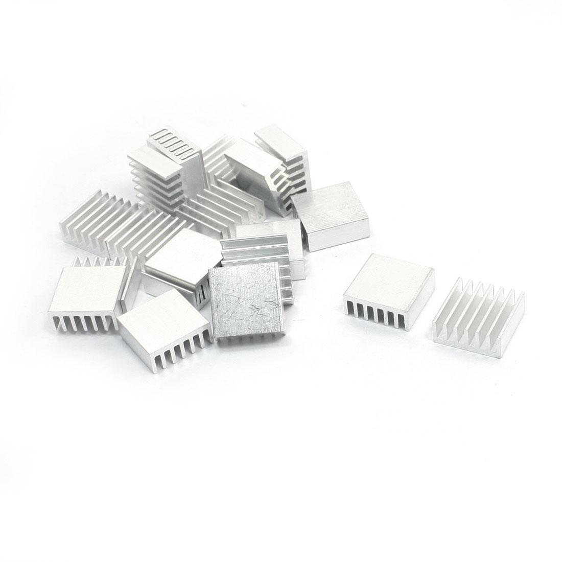 20 Pcs Aluminium Heat Diffuse Heatsink Cooling Fin 14mm x 14mm x 6mm
