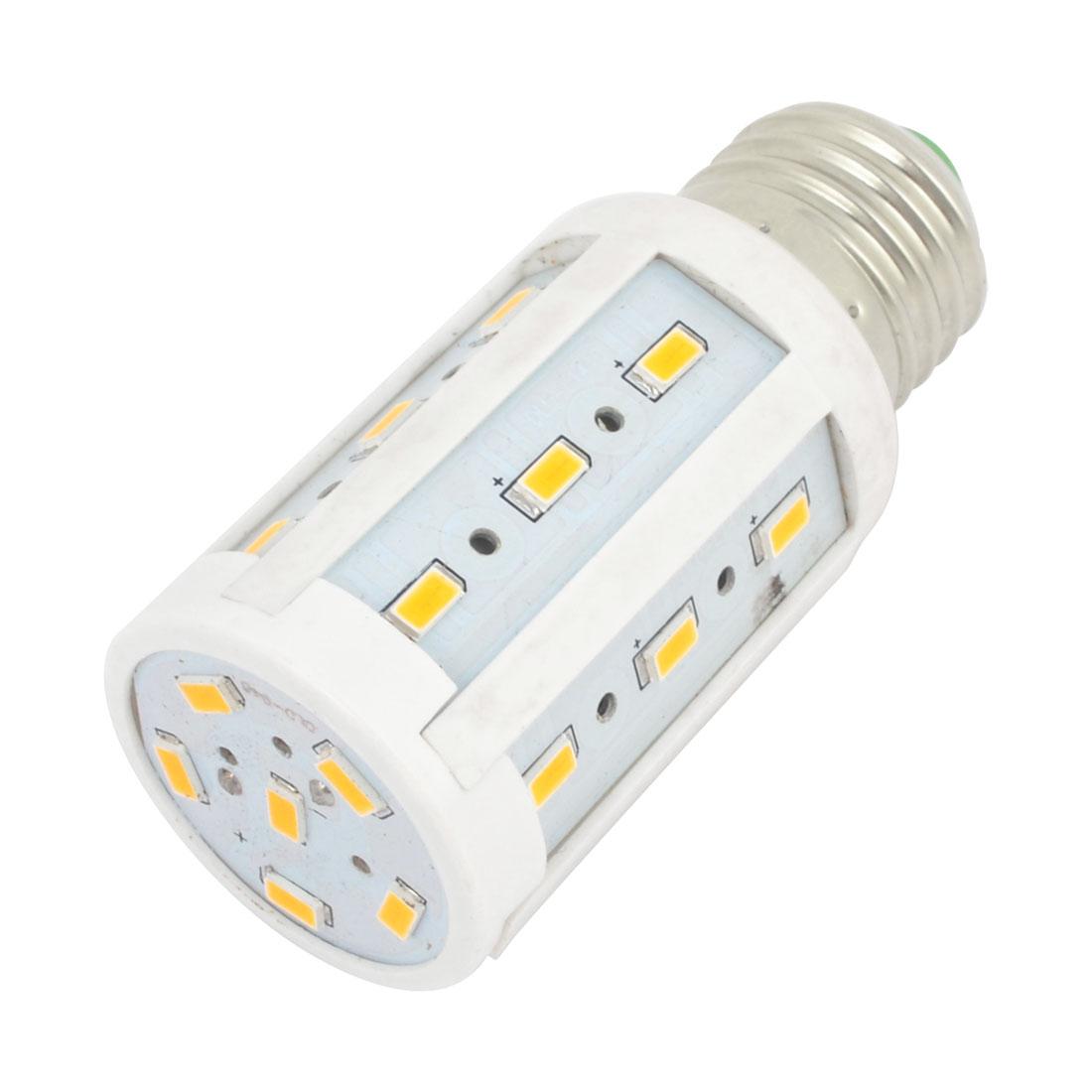 E27 AC200-240V 600LM 24 LEDs SMD 5630 Warm White LED Corn Light Bulb