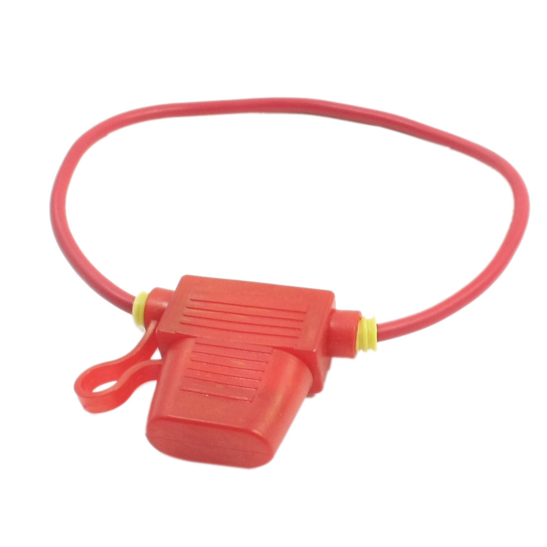 Red Vehicles Car Rubber Blade Fuse Holder Container + 32V 10A Fuse