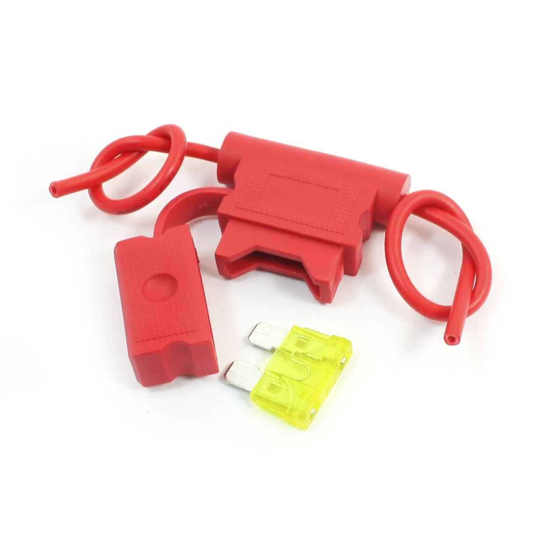 Vehicles Car Red Plastic Blade Fuse Holder Container 32V 20A