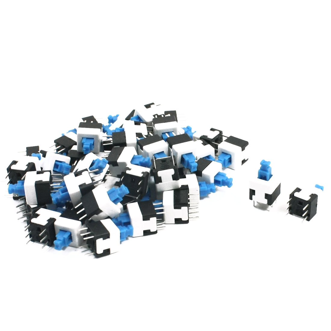 50Pcs 6 Pin Mounted 8mmx8mm Self-Locking Push Button Tact Switch