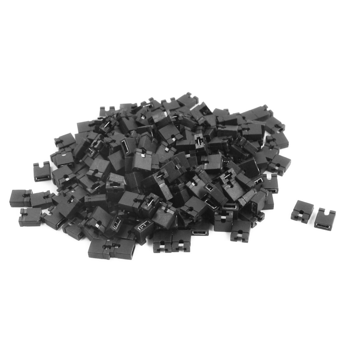 200Pcs IDE CD DVD HDD PC Motherboard PCB Plugs Jumper Caps 2.54mm Black