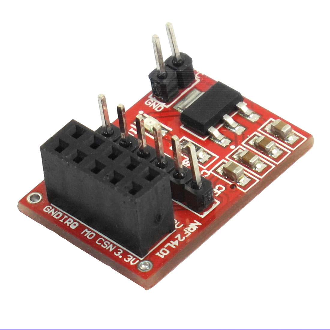 24L01 Electronic Wireless Connecting Plate Module Red Black 3.3V