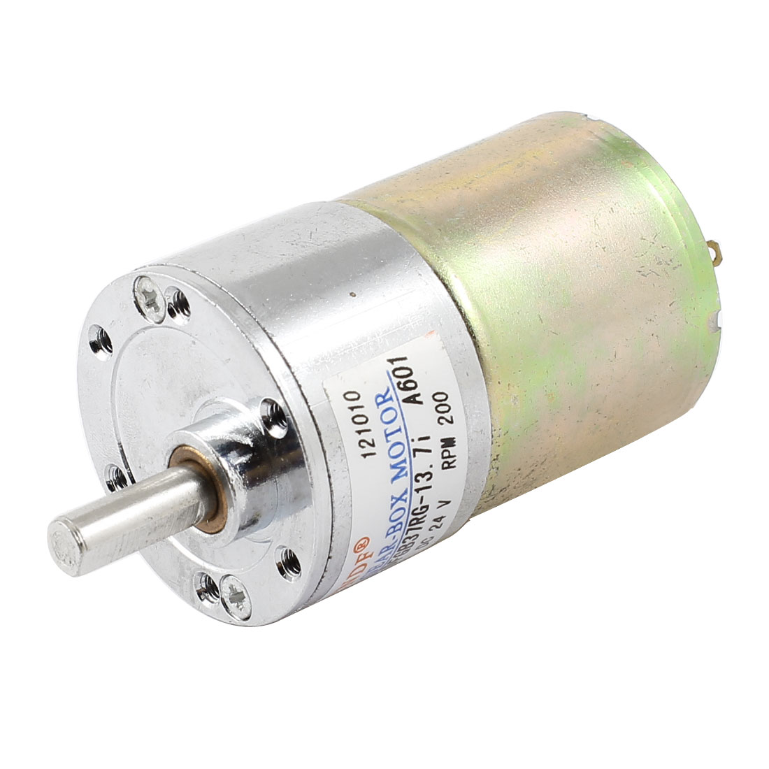 DC 24V 200RPM 6mm Shaft Electric Geared Box Speed Reduce Motor