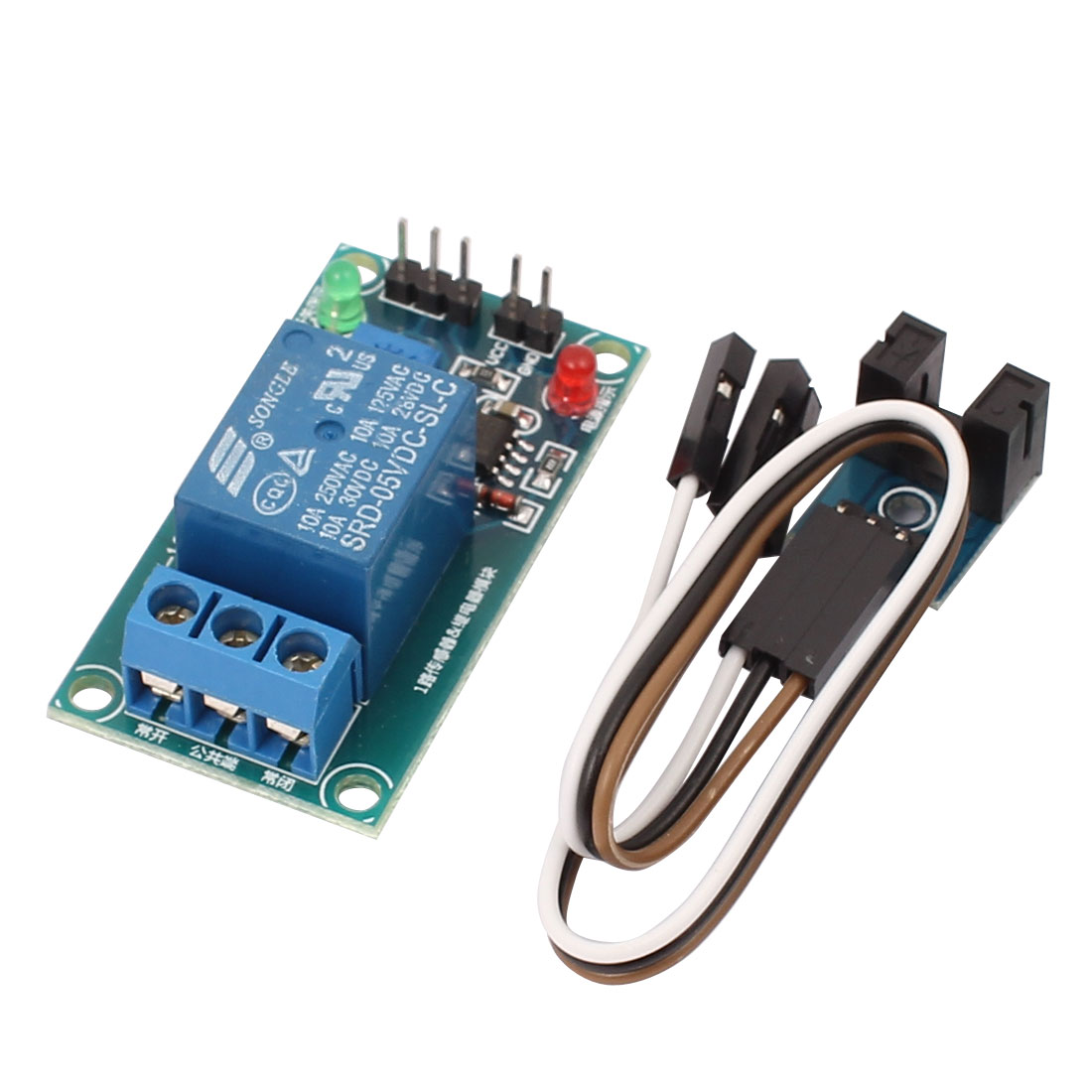 DC 5V SRD-05VDC-SL-C Single Channel Potentiometer Optical Sensor Module w Relay