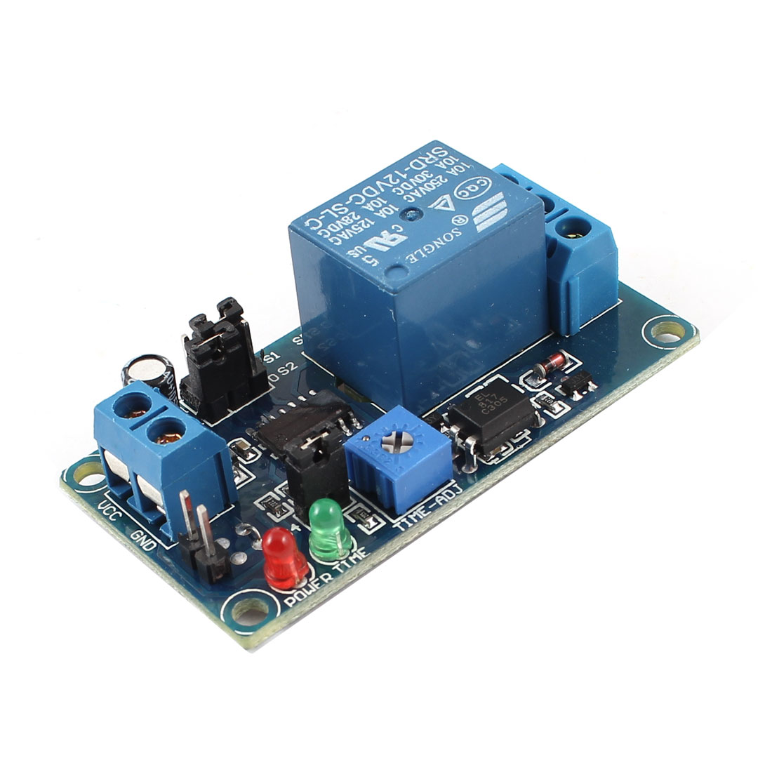 DC 12V Single Channel PCB Board Normal Open Triggered Time Delay Relay Module