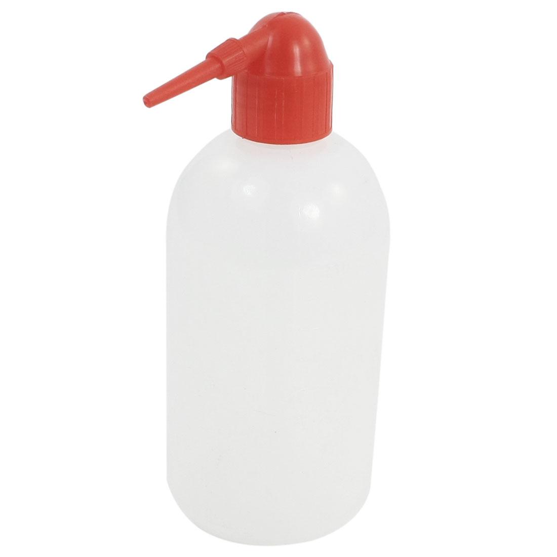 500ml Clear White Machine Maintenance Pointy Nozzle Oil Bottle Holder