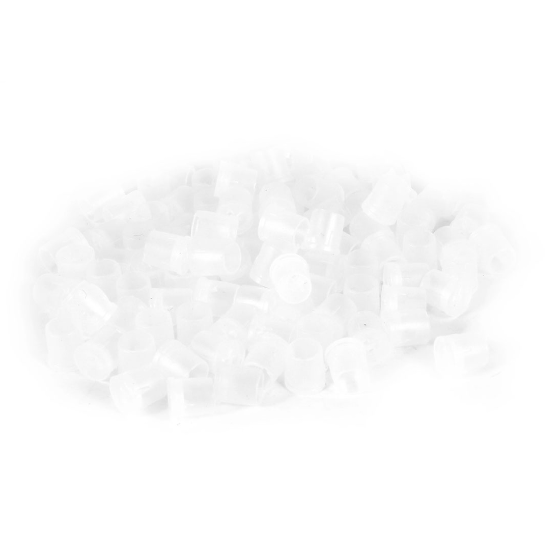 100 Pcs White Plastic PCB Board LED Spacer Support Holder Boot 5mm x 7mm