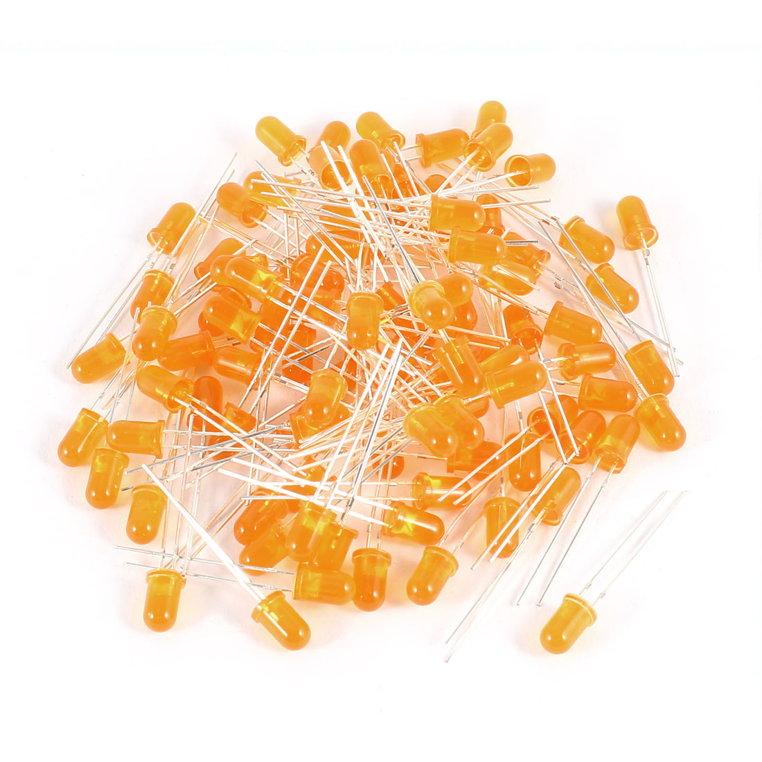 100 Pcs 5mm Round Head Orange LED Light Emitting Diode