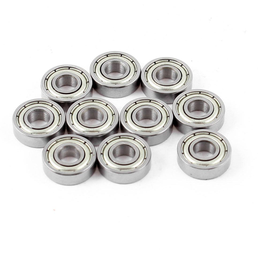10 Pcs 695Z Dual Metal Shields Deep Groove Ball Bearing 5mm x 13mm x 4mm