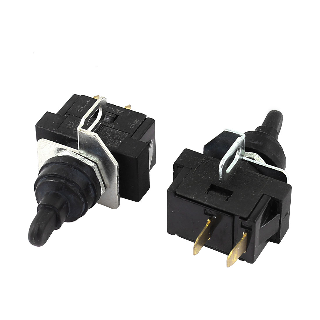 AC 5A 250V ON/OFF 2 Positions SPST 2 Terminals Toggle Switch 2Pcs