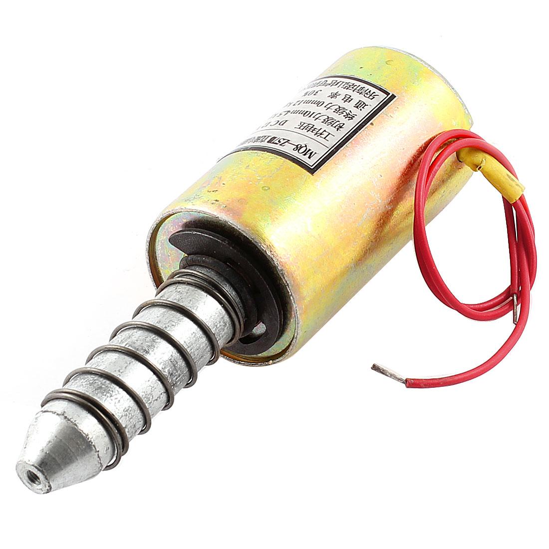 Pull Type 10mm/4.5kg 0mm/12kg 2 Wired Spring Plunger Solenoid Electromagnet DC 12V