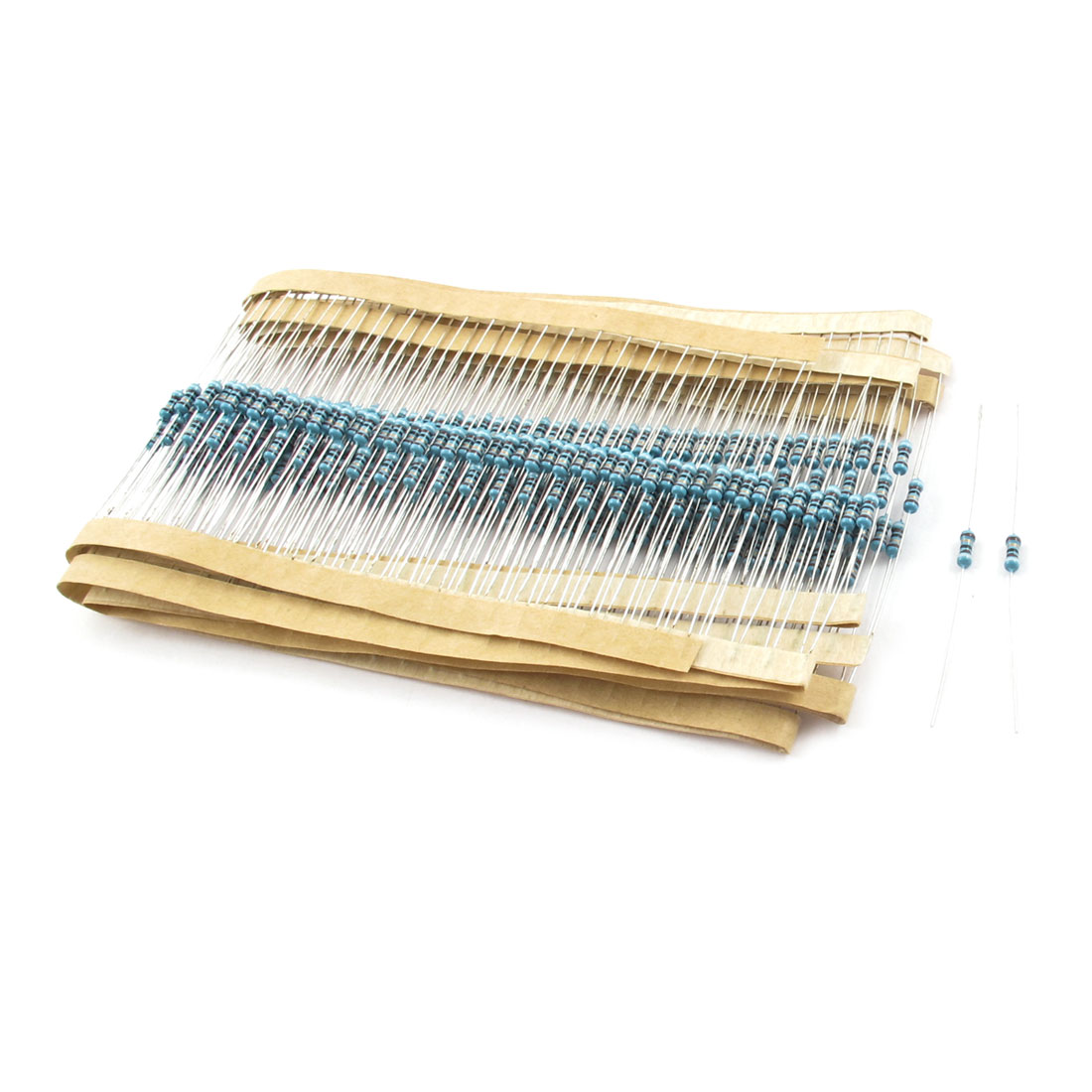 300 Pcs 1/4W 1% 91 Ohm PCB Mounting Axial Lead Type Metal Film Resistor