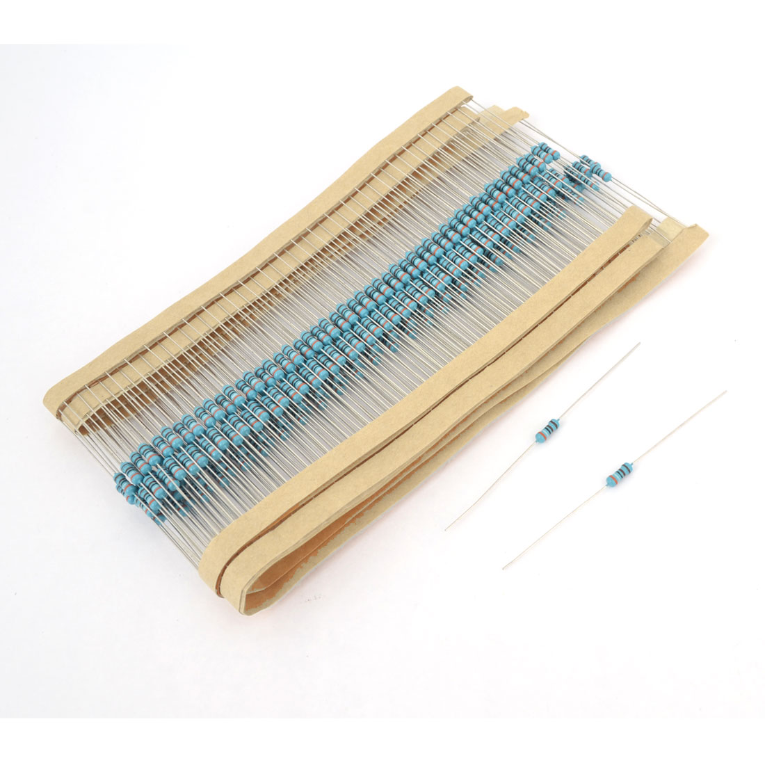 300pcs Axial Lead Through Hole 1/4W 1% Tolerance 3.9K Ohm Metal Film Resistor