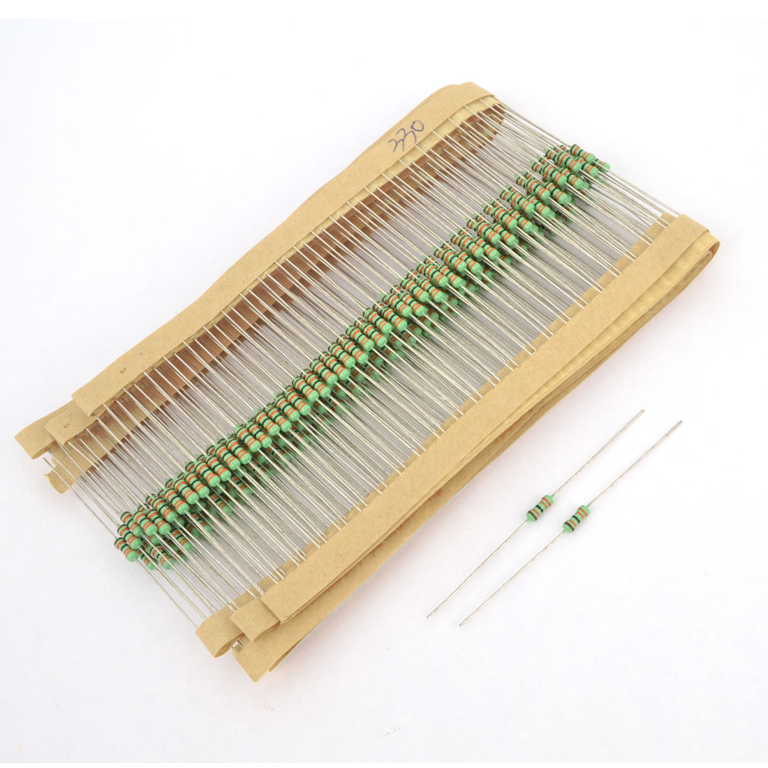 300pcs Axial Lead Through Hole 1/4W 1% 330K Ohm Metal Film Resistor