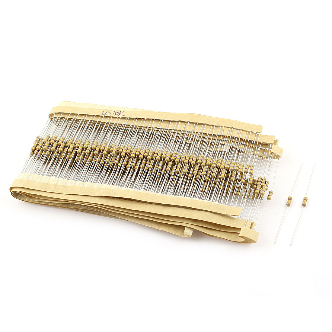 400PCS 0.25W 1/4W 5% Tolerance 470K Ohm Axial Leads Carbon Film Resistors