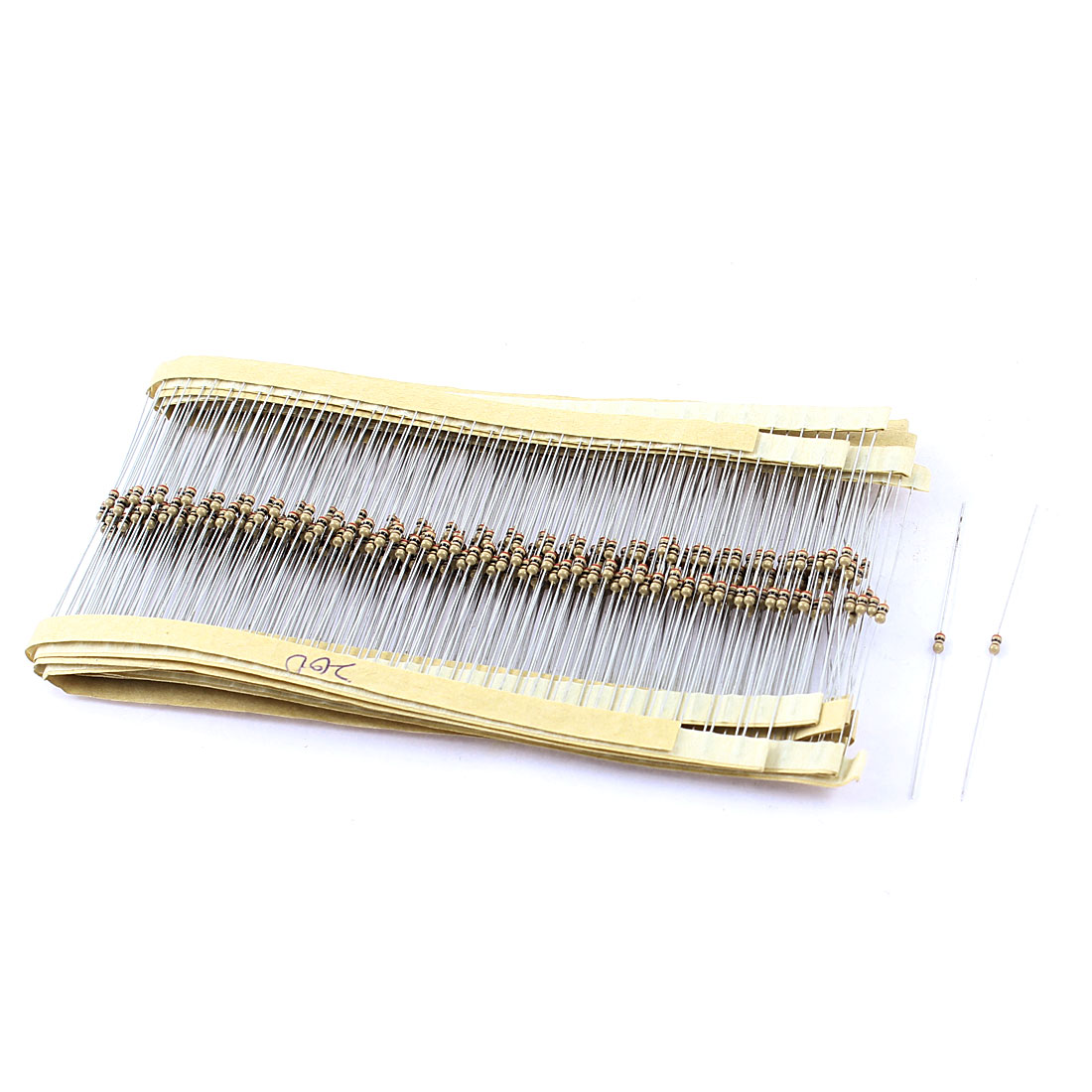 400PCS 1/4W 5% Tolerance 200R Through Hole Carbon Film Resistors