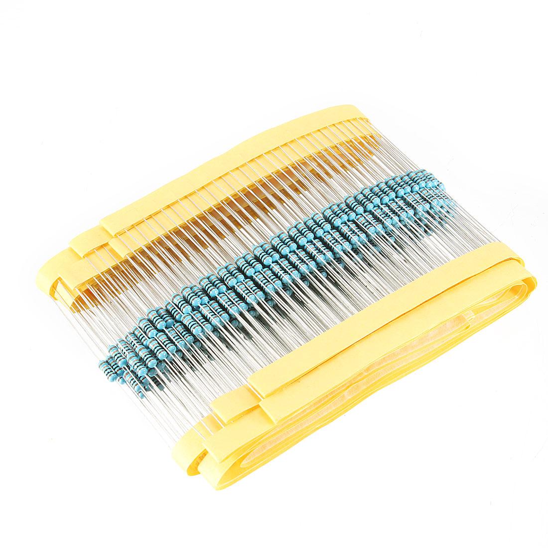 400 Pcs Axial Lead 1/4W 1% Tolerance 100K Ohm Flameproof Metal Film Resistor