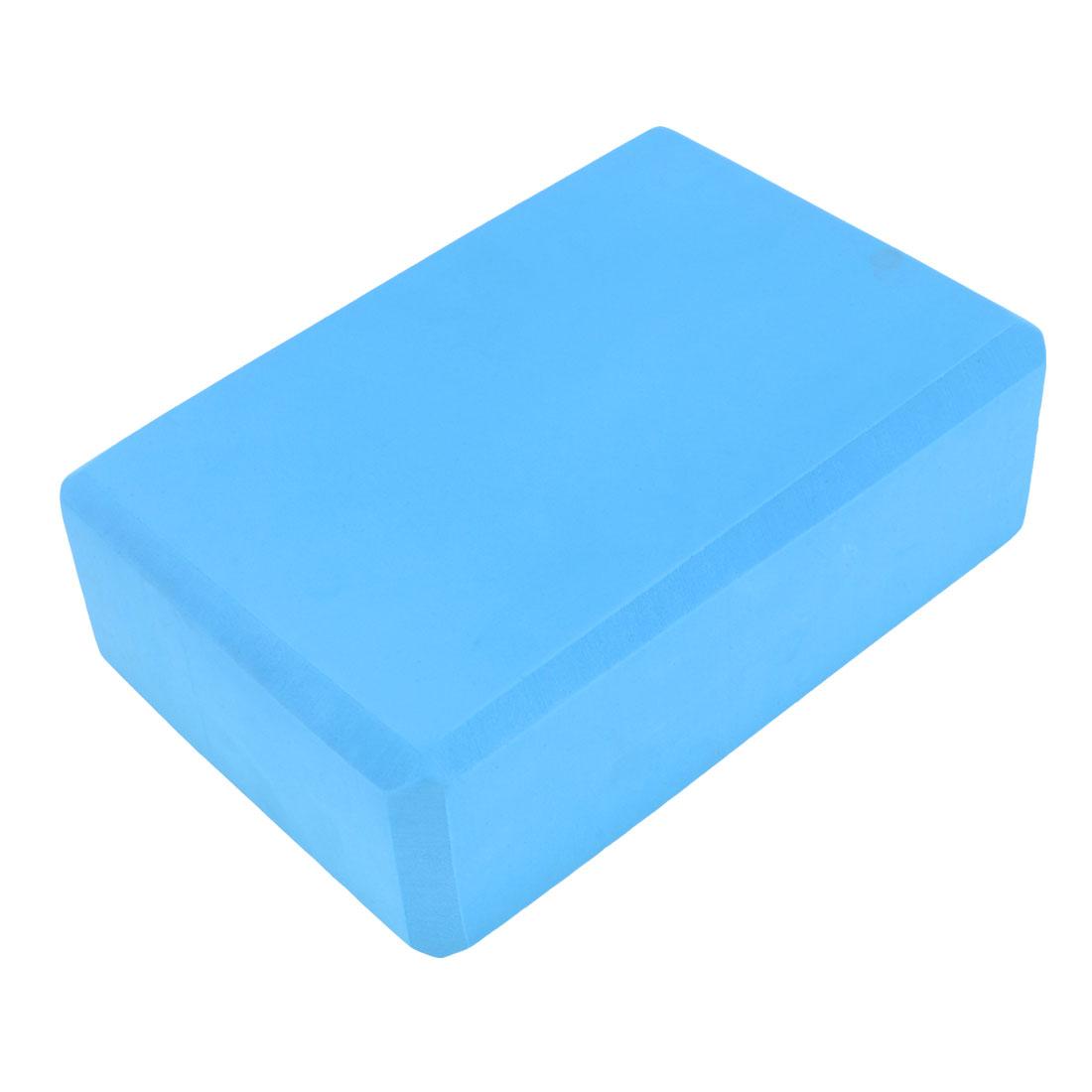 Teal Blue Rectangle Foam Gymnastics Yoga Brick 22.5cm x 15cm x 7.7cm