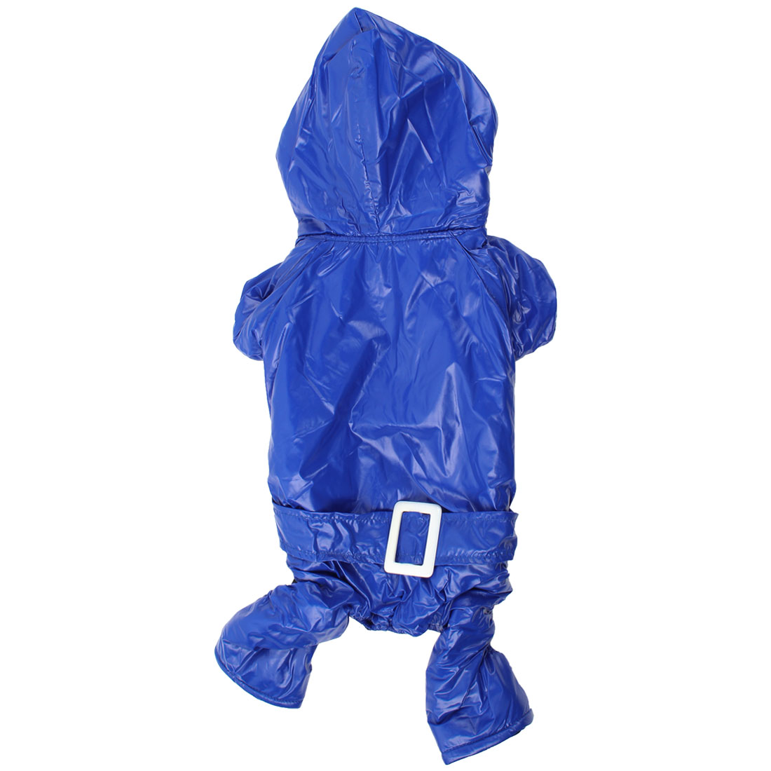 Single Breasted Pet Dog Puppy Hooded Down Coat Jumpsuit Blue M