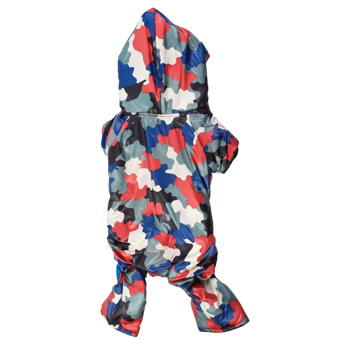 Press Stud Button Camouflage Print Pet Dog Hooded Down Coat Jumper Multicolor S