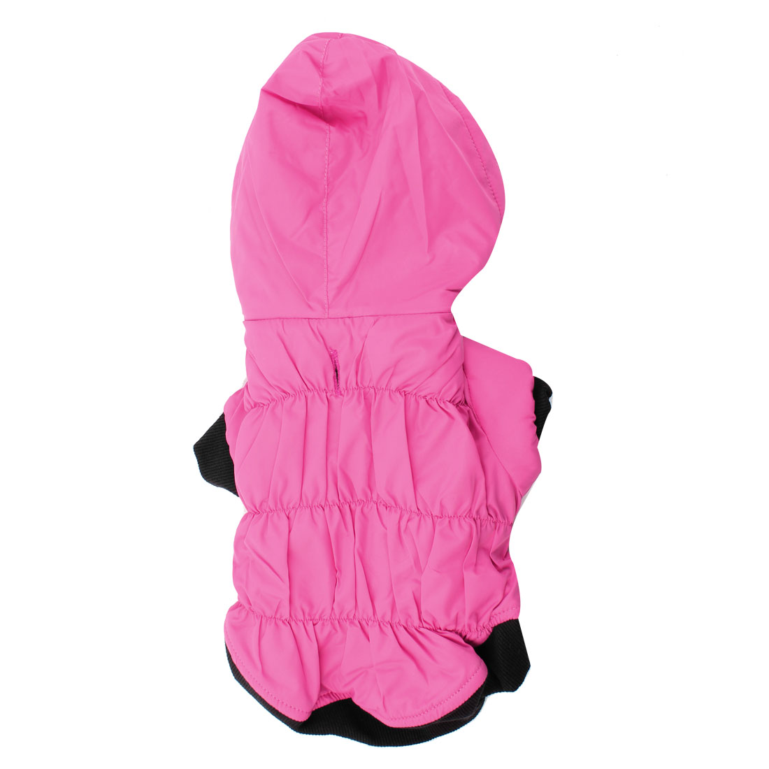 Press Stud Button Quilted Hooded Pet Dog Puppy Down Coat Clothes Pink XS