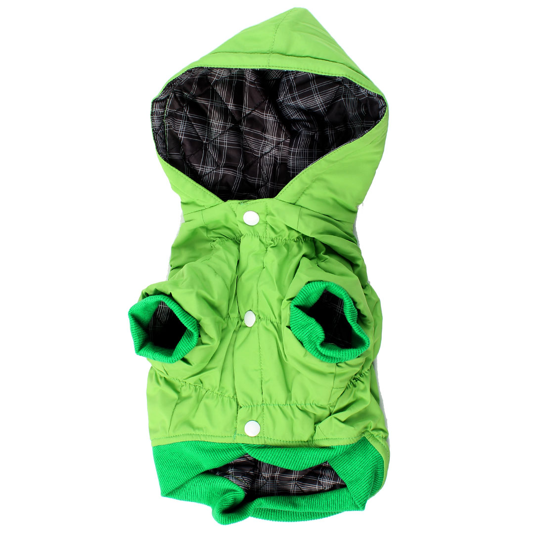 Winter Single Breasted Hoodie Pet Dog Chihuahua Clothing Down Coat Green XS
