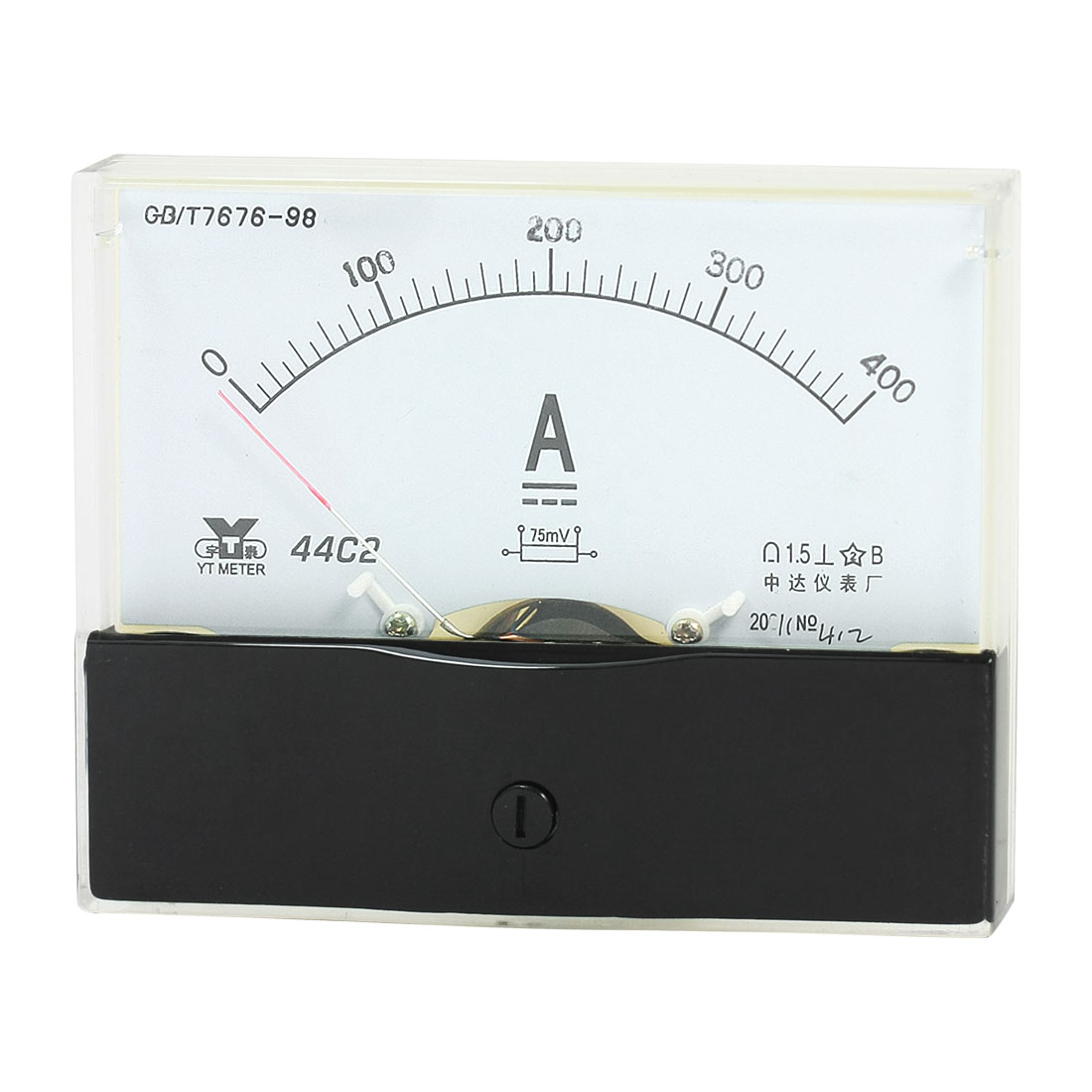 Rectangle Measurement Tool Analog Panel Ammeter Gauge DC 0 - 400A Measuring Range 44C2