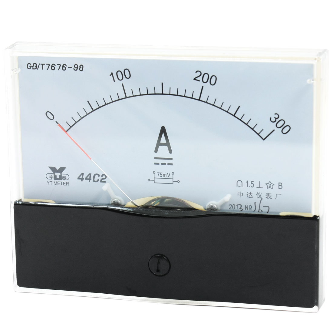 Measurement Tool Panel Mount Analog Ammeter Gauge DC 0 - 300A Measuring Range 44C2