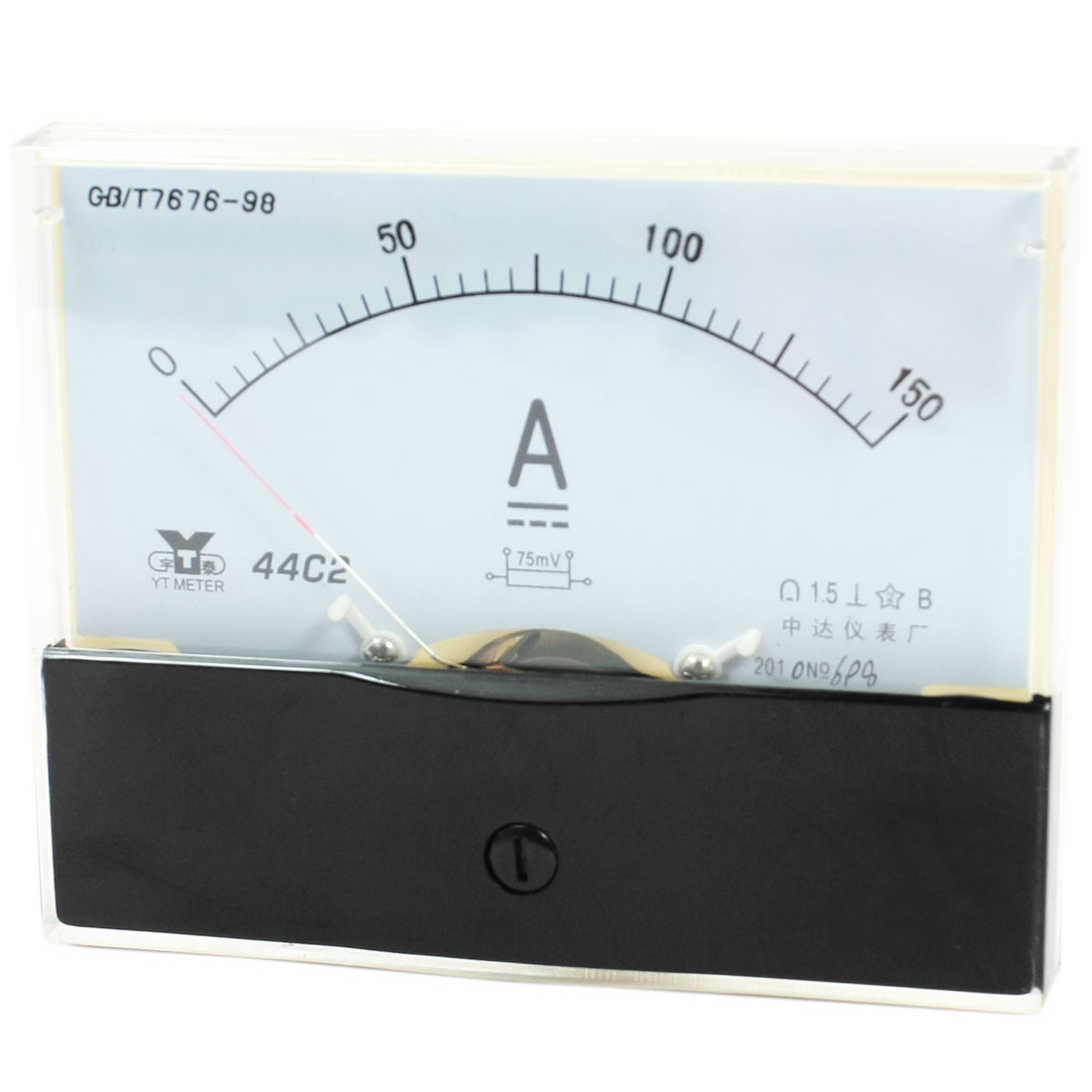 Rectangle Measurement Tool Analog Panel Ammeter Gauge DC 0 - 150A Measuring Range 44C2