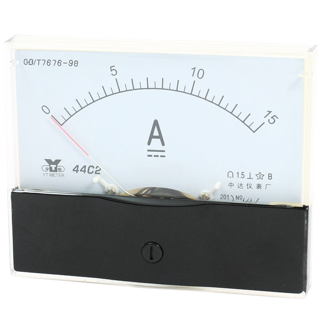 Measurement Tool Panel Mount Analog Ammeter Gauge DC 0 - 15A Measuring Range 44C2