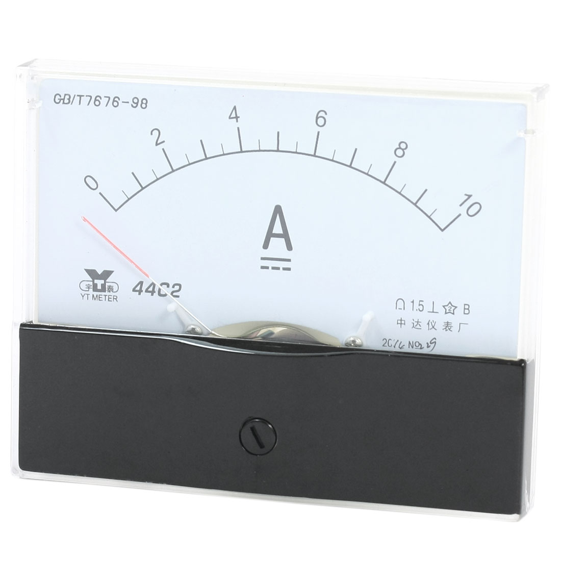 Rectangle Measurement Tool Analog Panel Ammeter Gauge DC 0 - 10A Measuring Range 44C2